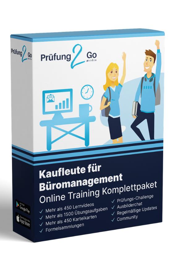 Kauffrau für Büromanagement: Online-Learning-Komplettpaket